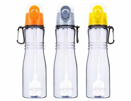 Jetery Sport Water Bottle with Replacement Filter, Portable