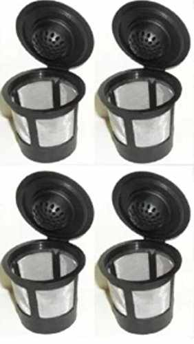 4 permanent coffee filters for keurig b30 solofilltm k45 b41 b60 k65 b40 k40 k75 replaces keurig my kcuptm b70 b31 ekobrewtm and all other - Keurig Elite K45